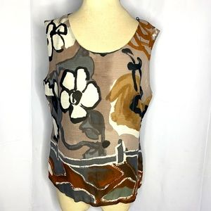 Louis Feraud Vintage Abstract Top Sz 12